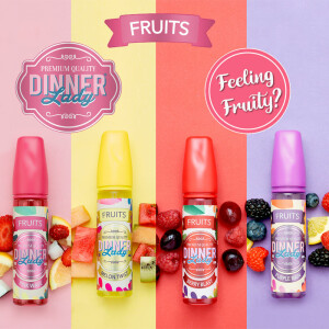 Dinner Lady Fruits Shake & Vape Liquid 50ml