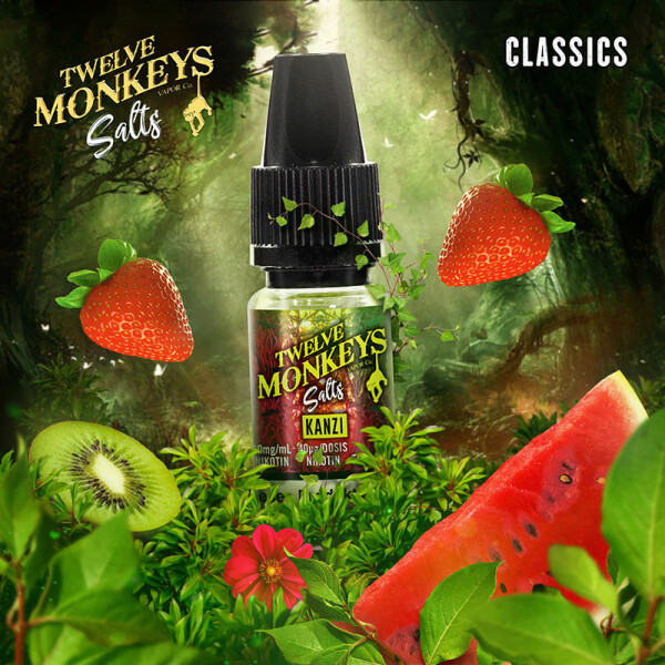 Twelve Monkeys Salts - Nikotinsalz Liquid 10ml Kanzi 20 mg/ml