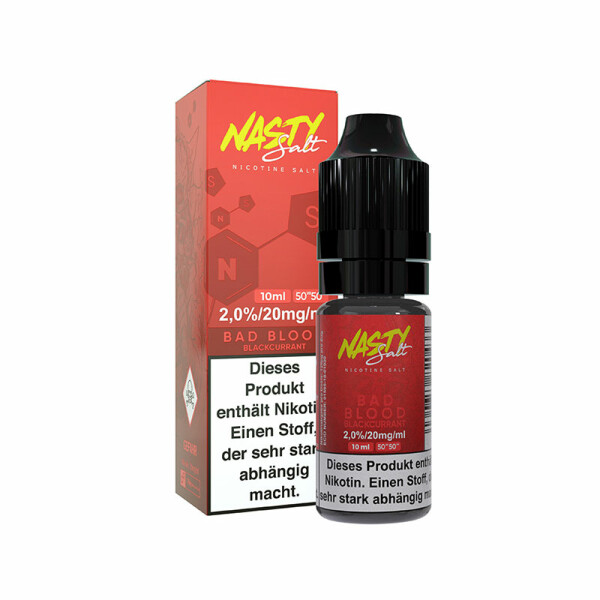 Nasty Juice Nic Salt - Nikotinsalz Liquid 10ml - 20mg/ml -  Bad Blood