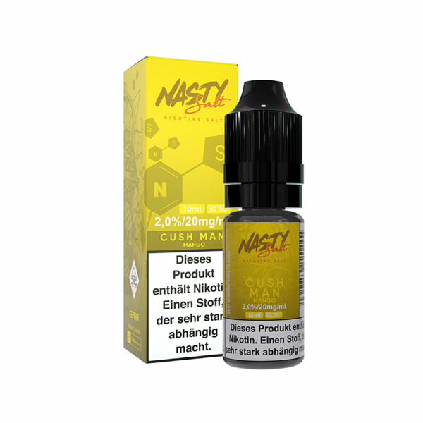 Nasty Juice Nic Salt - Nikotinsalz Liquid 10ml - 20mg/ml -  Cush Man